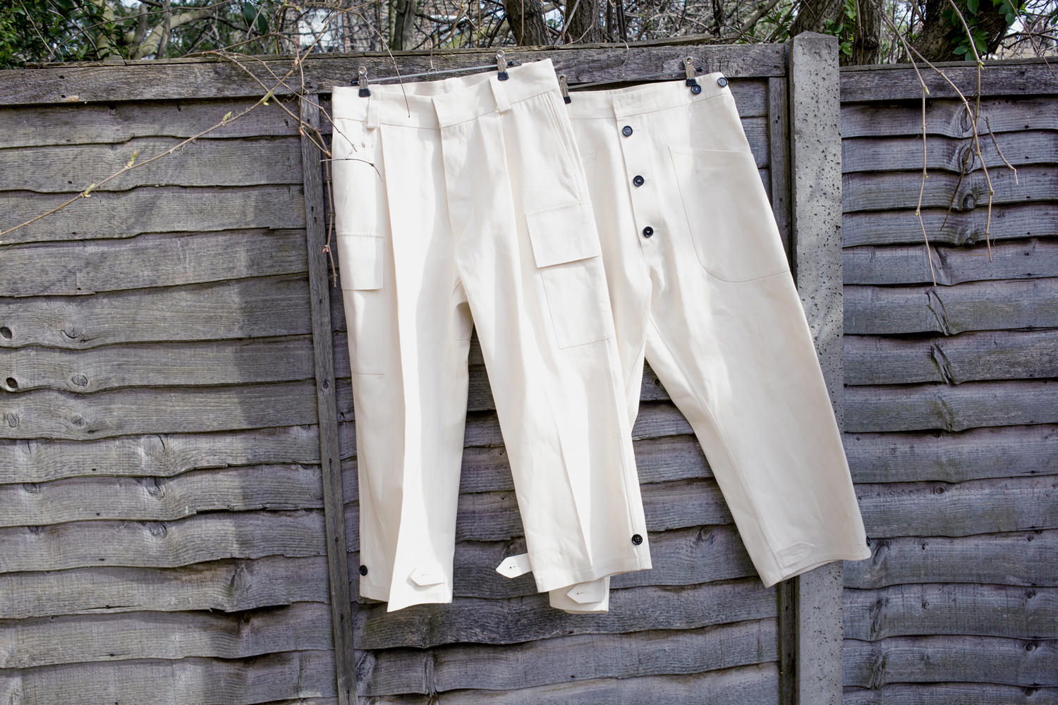04) Adapted Combat Trousers,   Half Overall Trousers
