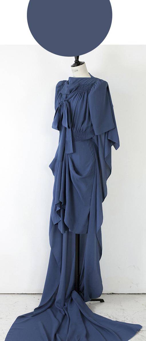 FLAT PACK SCULPTURE HALF MAXI/ CERULEAN BLUE