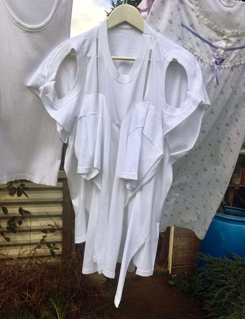 DRESS SUPER BASIC: White 3 Headed Double Breasted Vest #dressltd