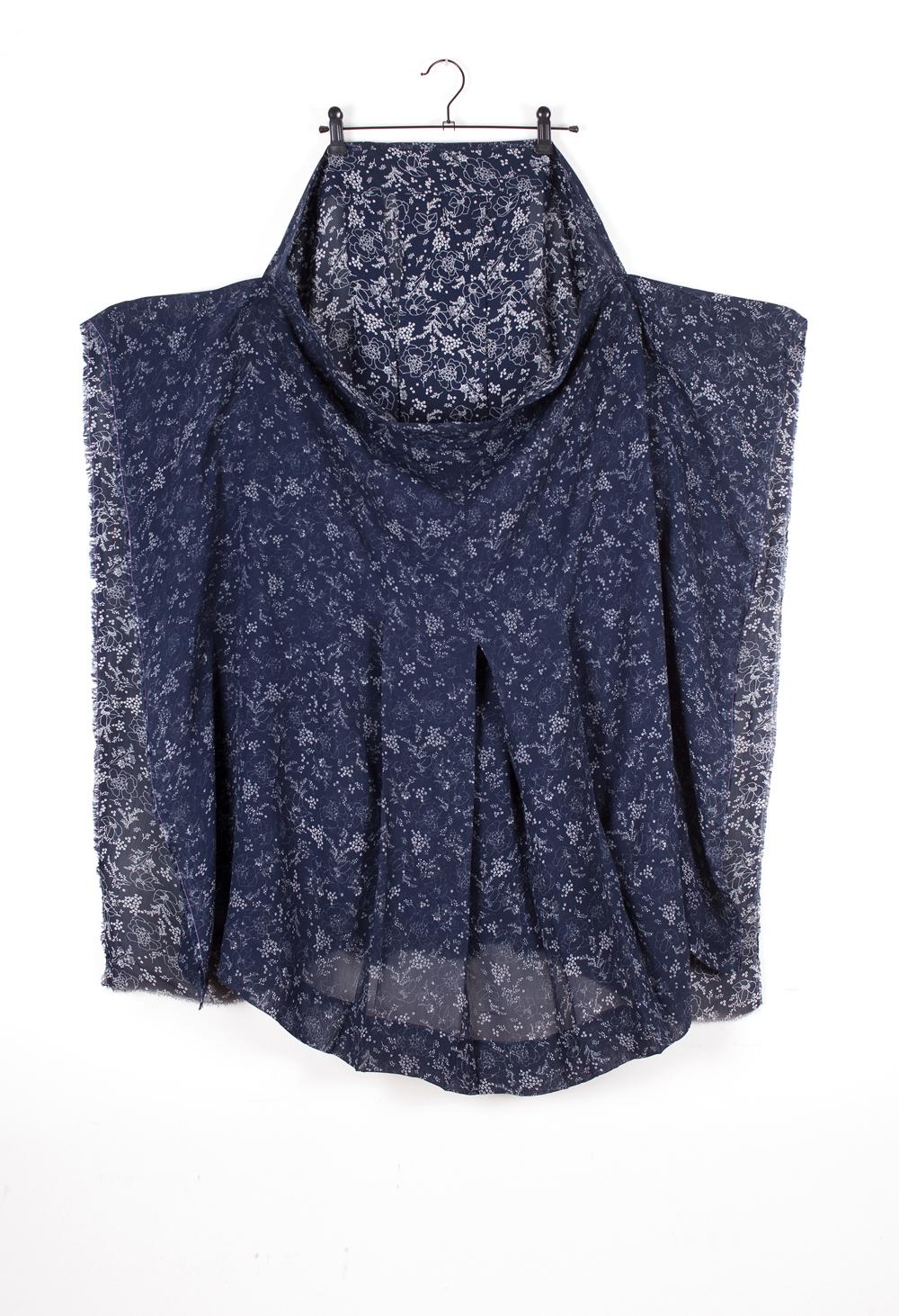 DRESS CRISIS collection Navy Flower Emerging Disappearing Skirt #dressltd