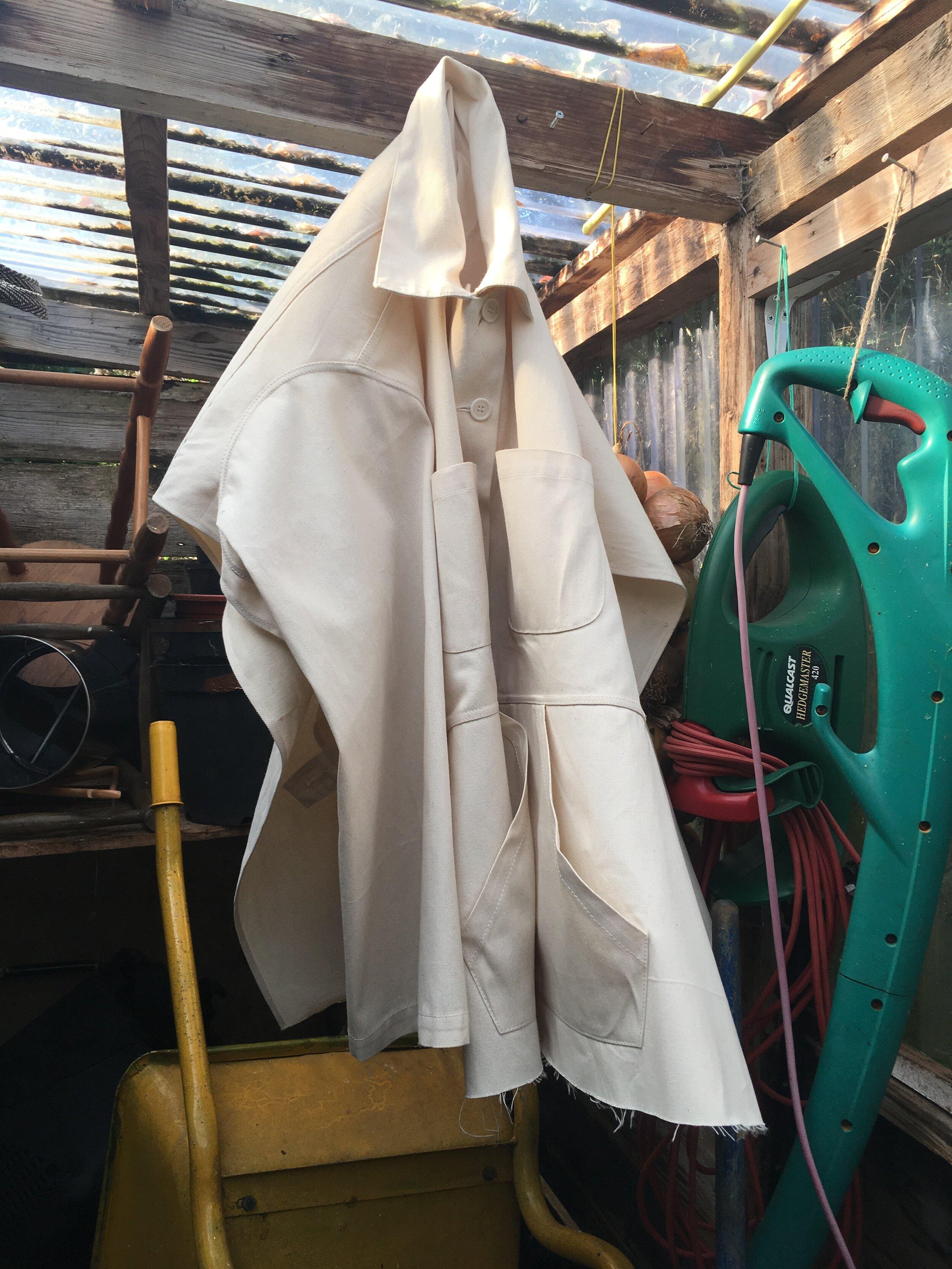 DRESS reconfigured workwear FLAT UTILITY jacket in raw state drill #dressltd #morestories