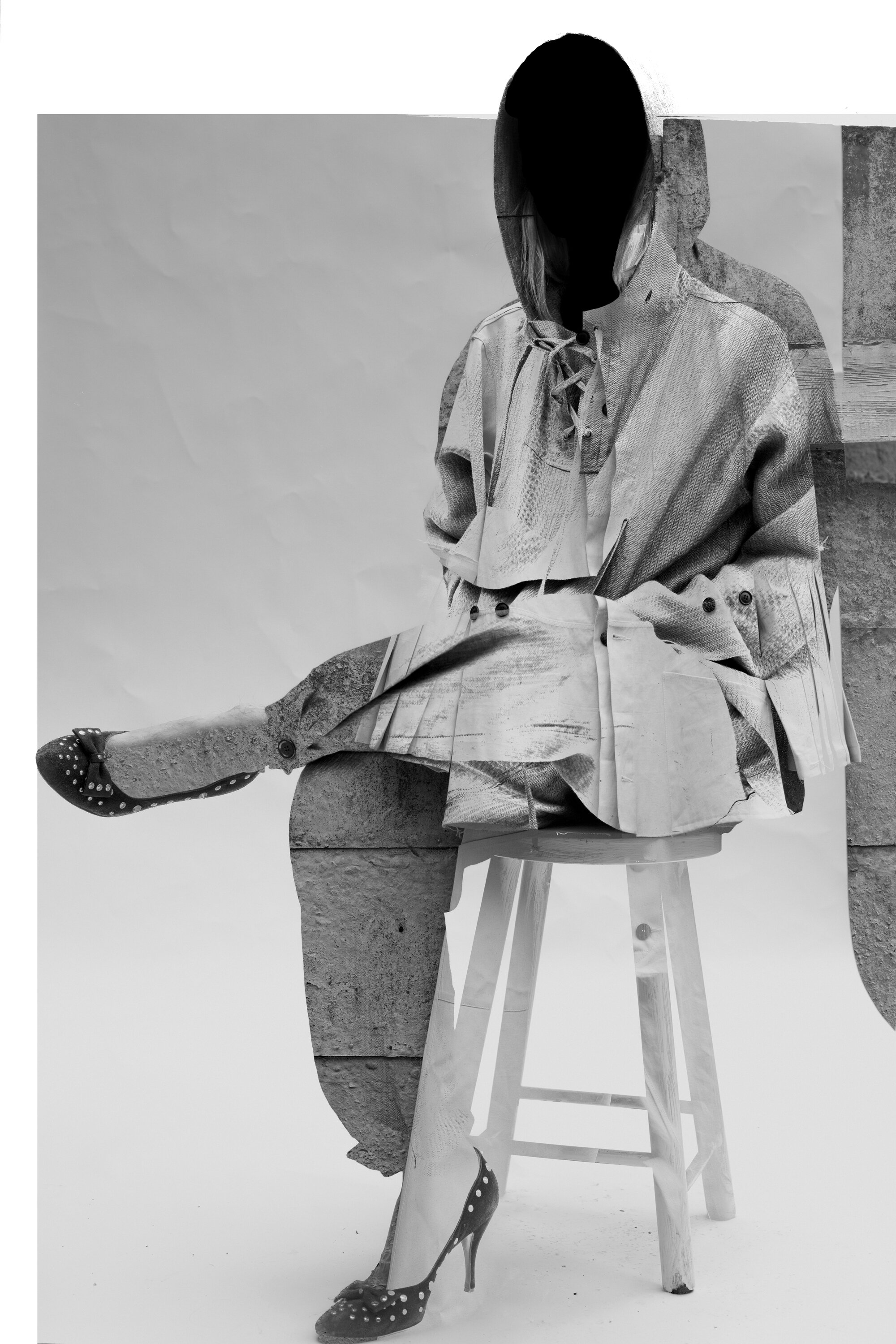 DRESS Crisis collection: Herringbone linen Half Overall Trousers and Lace up Cagoule #dressltd