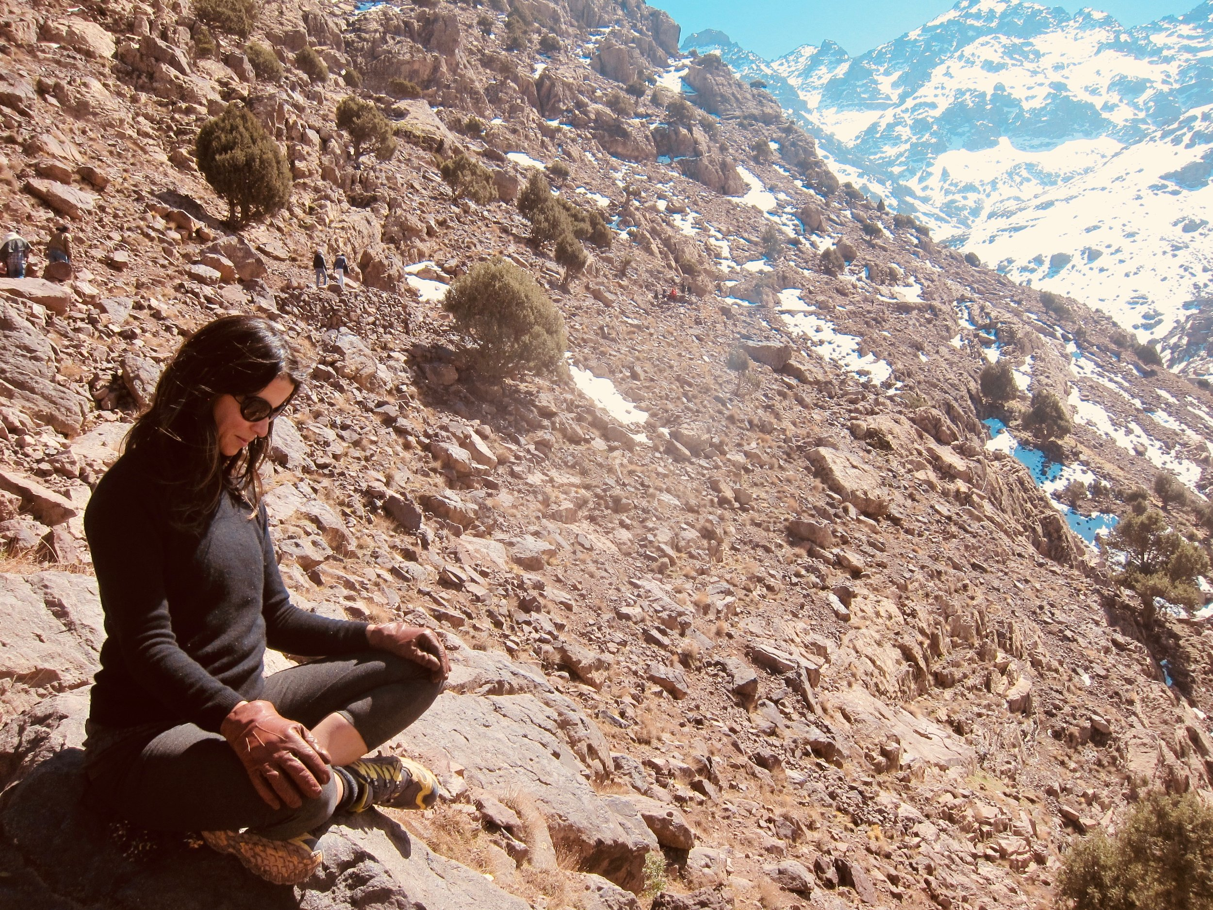Taking time to be still… High Atlas Mountains, Morocco. I did look up to enjoy the scenery!
