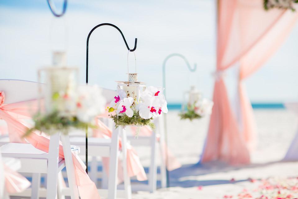 Set up beach wedding