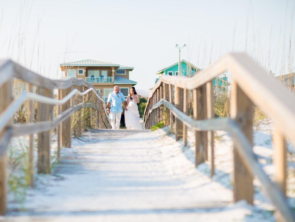 bridal entrance, Pensacola Beach Wedding
