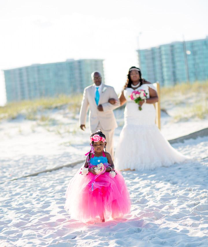 Flower Girl Beach Wedding