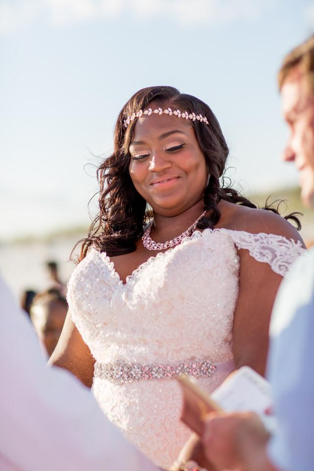 Happy bride is the prettiest bride