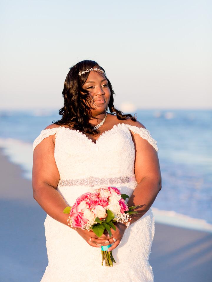 close up bridal portrait