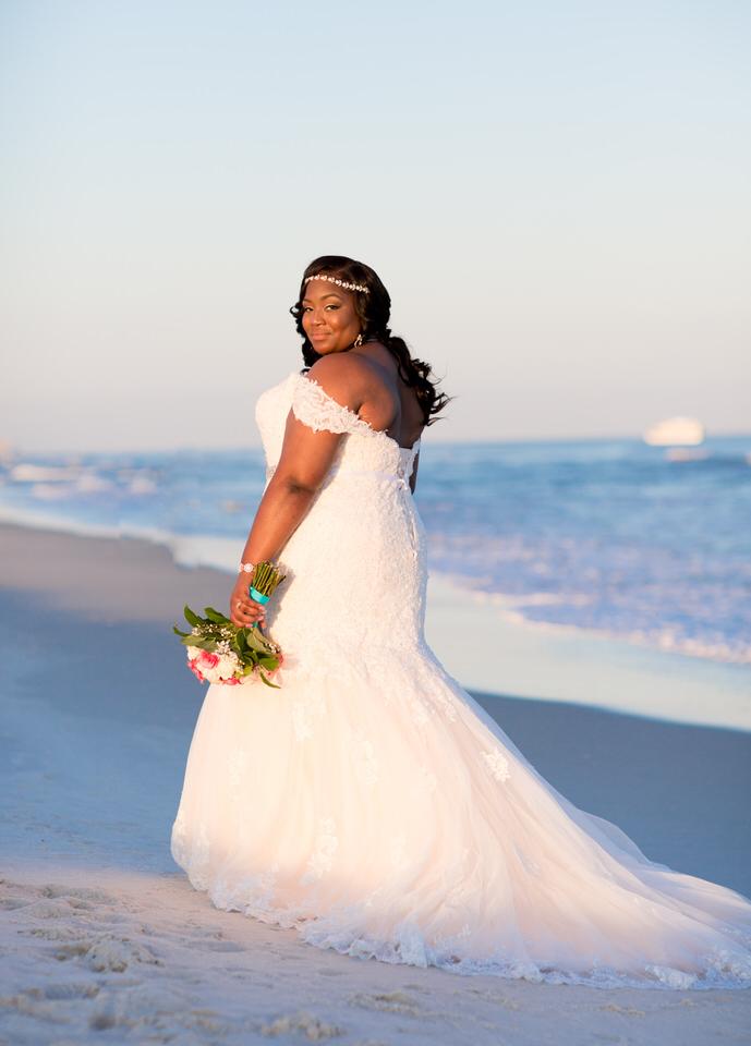 Wedding on the beach at sunset
