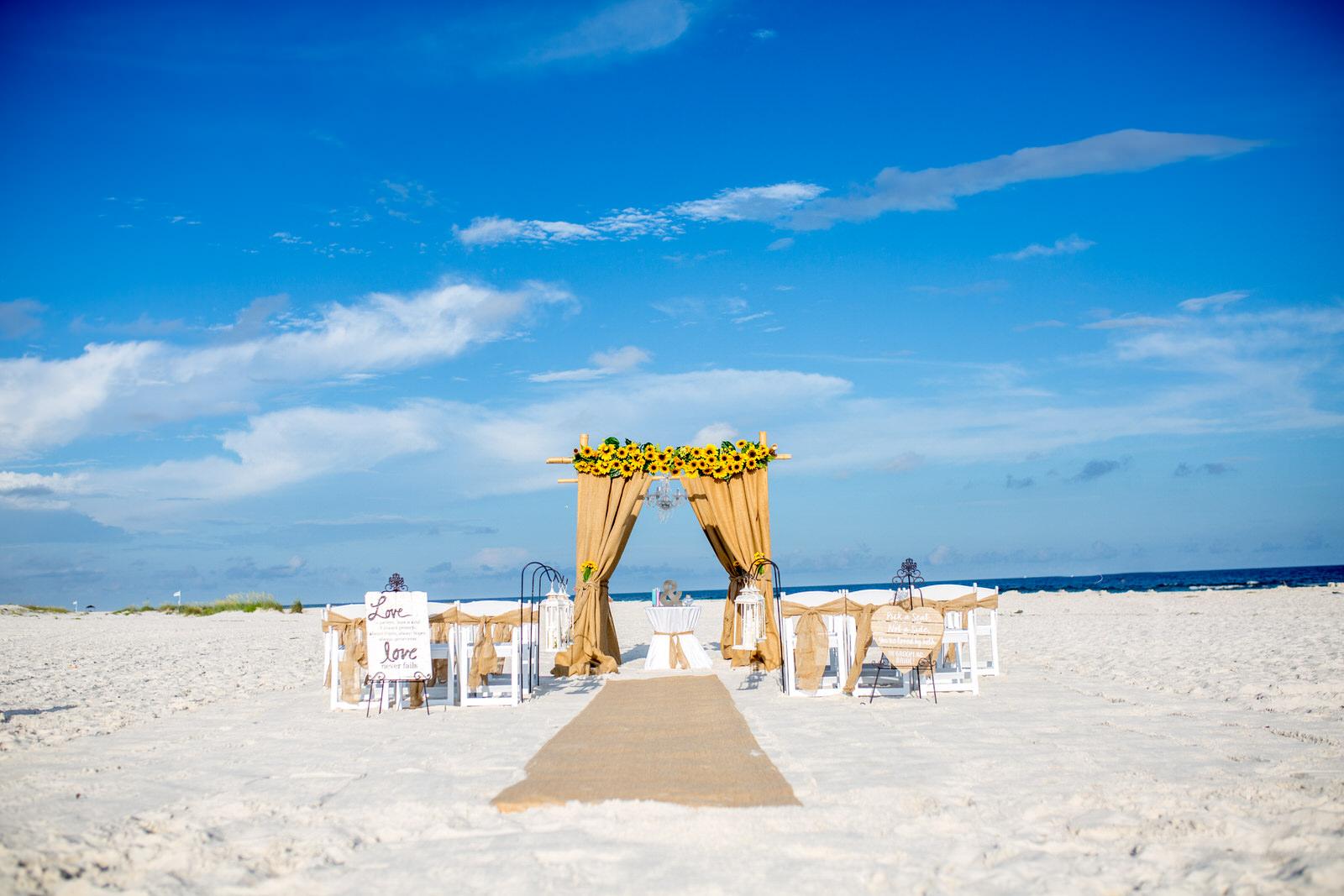 Sunflower Beach Wedding