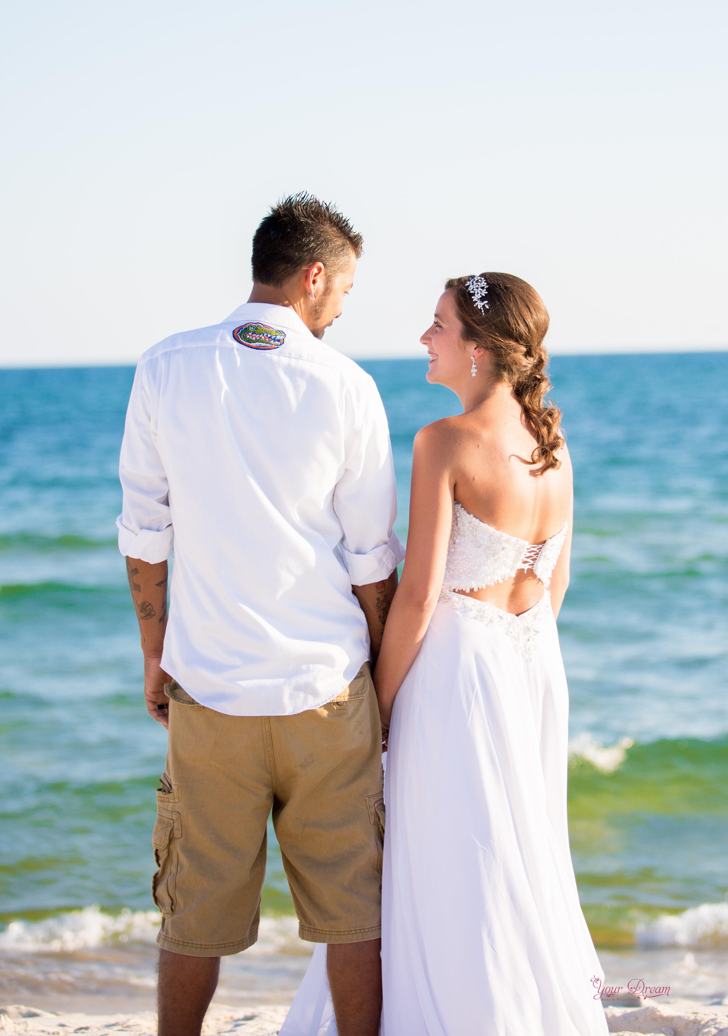 paradise beach wedding