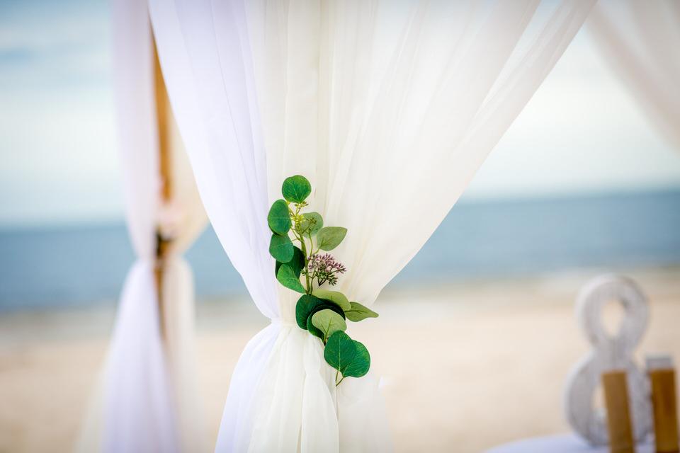 wedding setup floral element