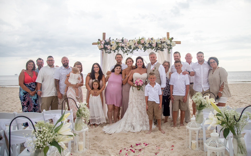big wedding family