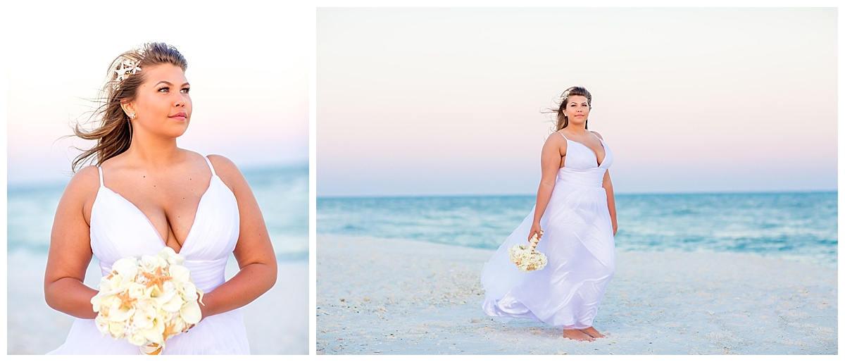 Beautiful Bride with Cotton Candy Sunset