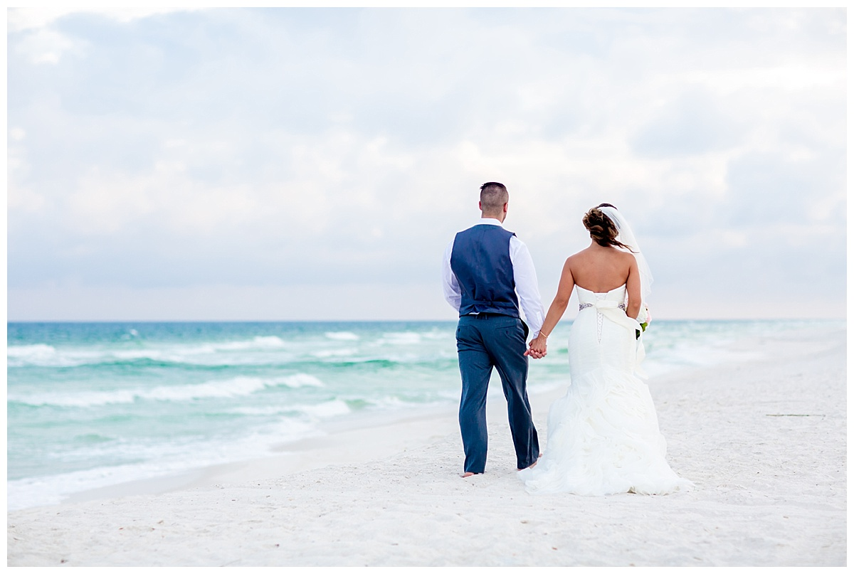walking on the white sands of Pensacola