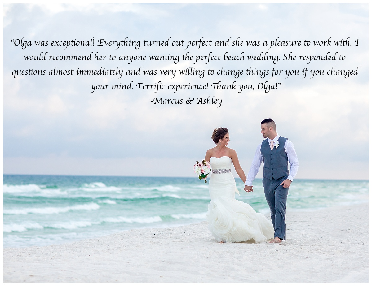 recommendations for a wedding planner in Gulf Shores