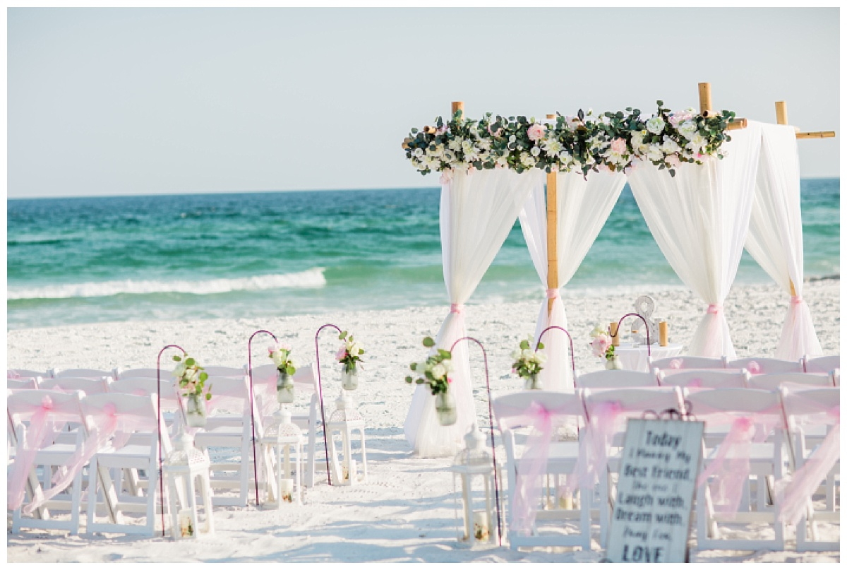 Sunset Wedding in Pensacola beach
