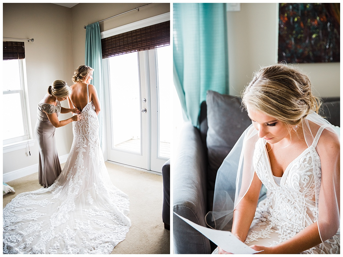 Bride is getting ready before the wedding