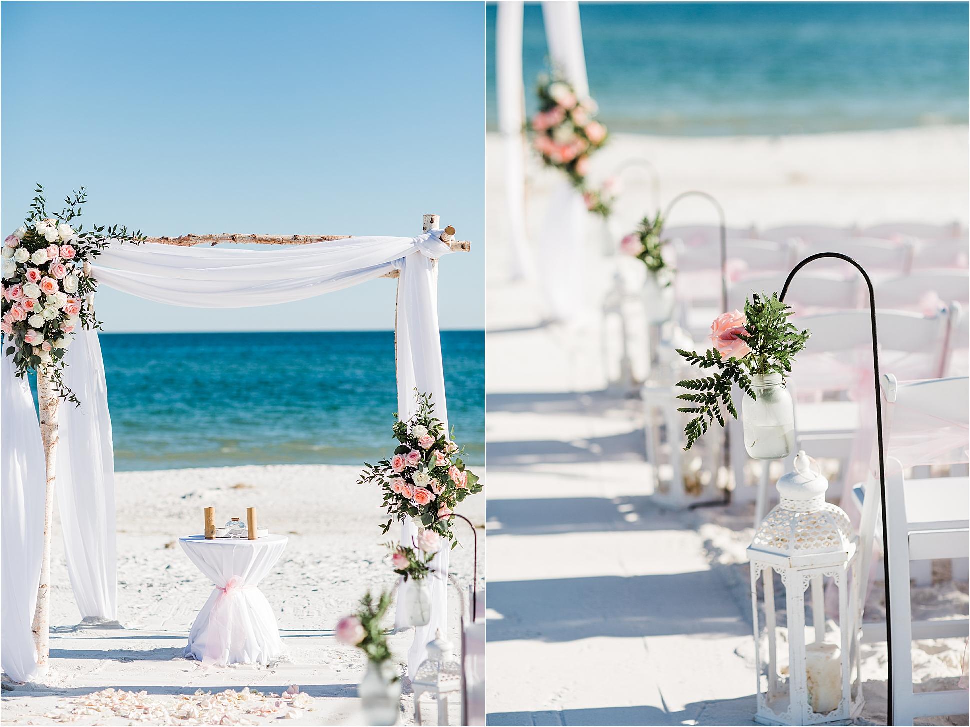 Rustic Beach Wedding Arch in Pensacola