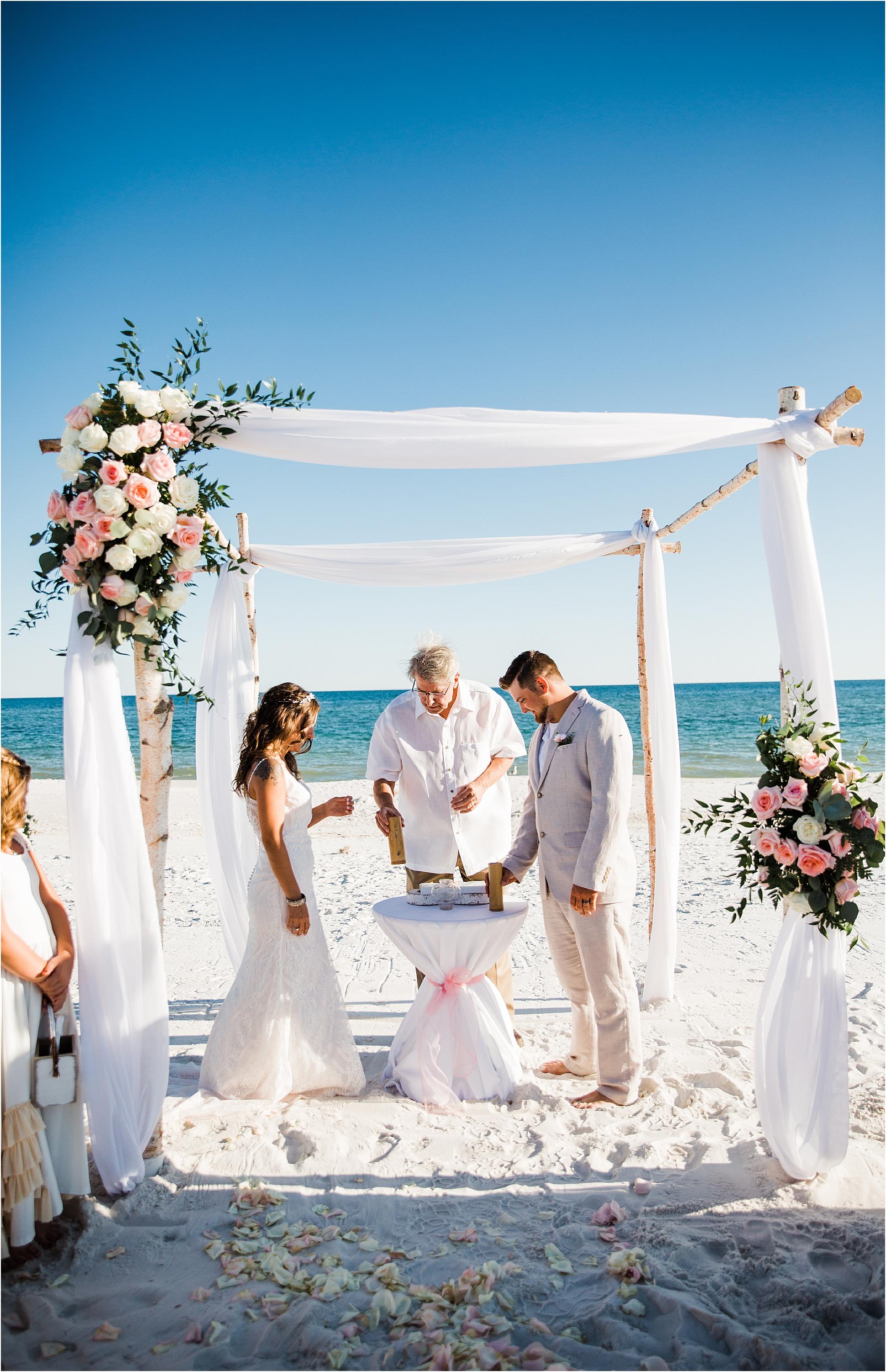 Sand Unity Ceremony in Pensacola Beach
