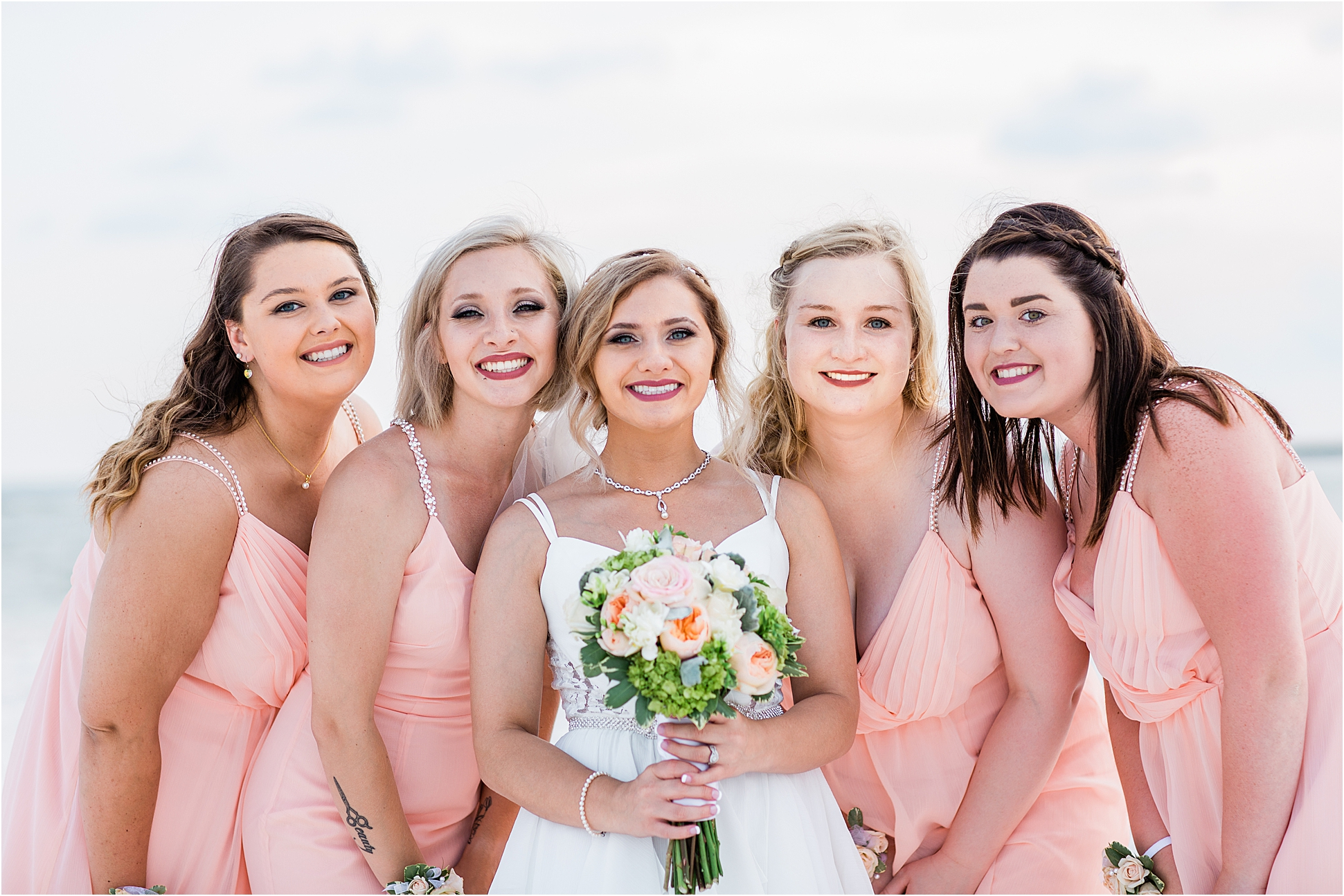 Peach and Mint Wedding Colors