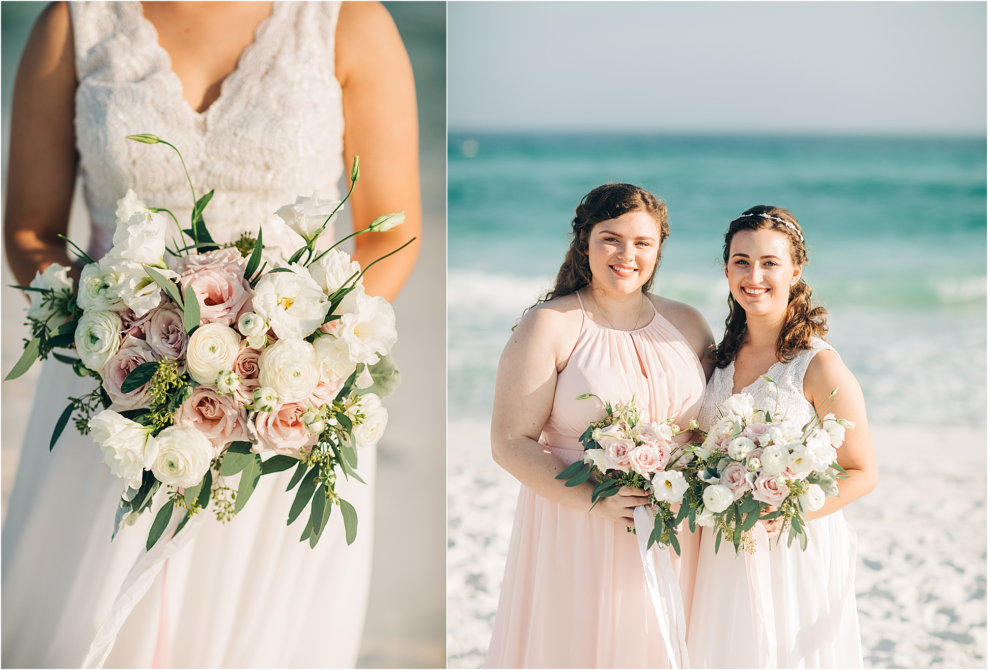 Blush and White Simple Bridal Bouquet