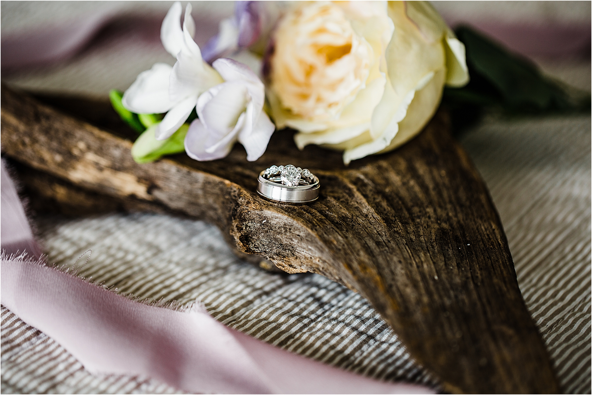 Wedding Rings Close up Picture