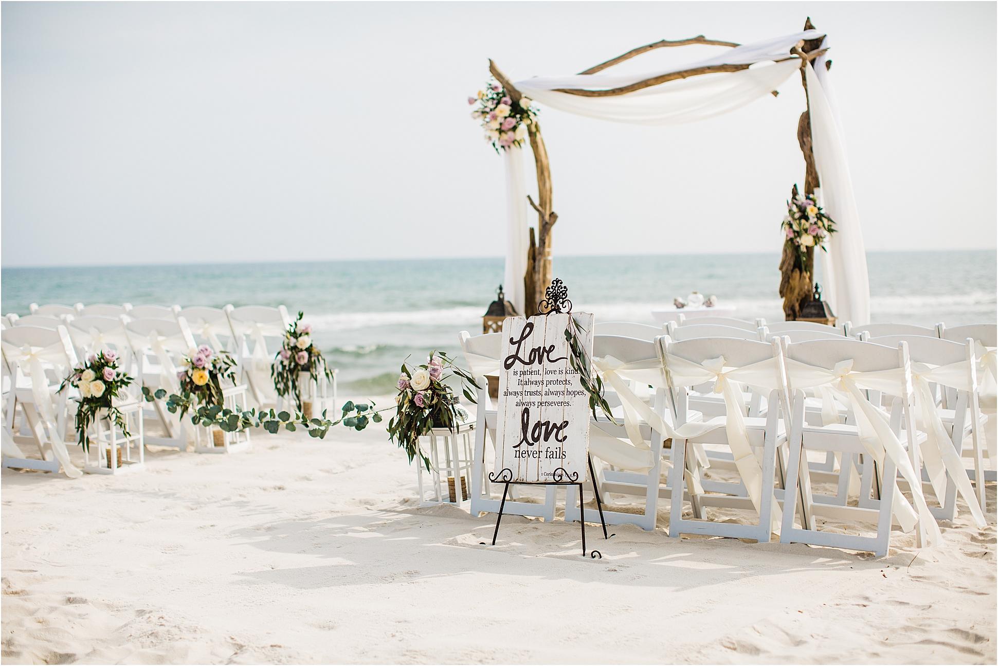Driftwood Wedding Arch for beach weddings