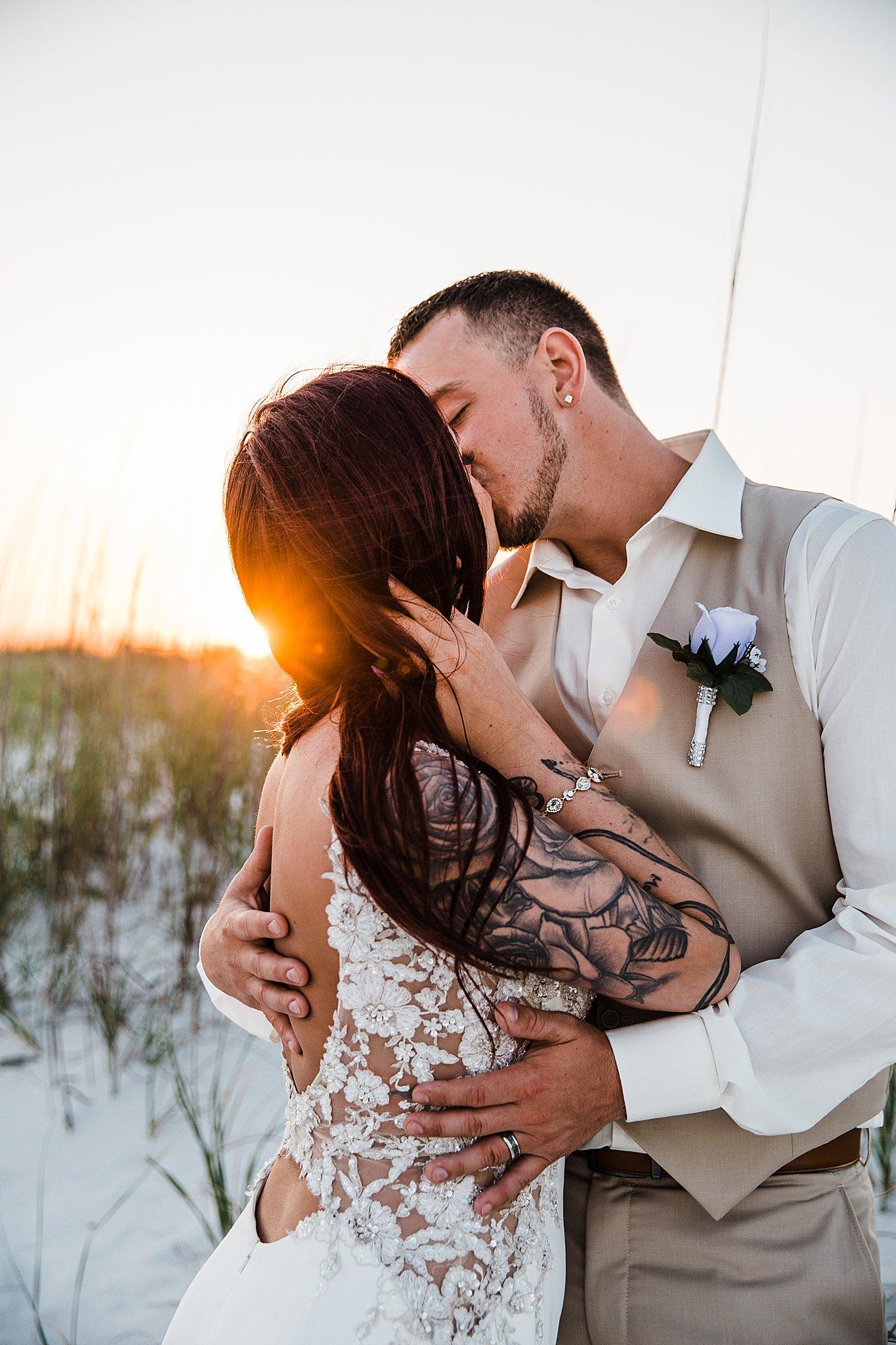 Sunset Wedding In Pensacola Beach