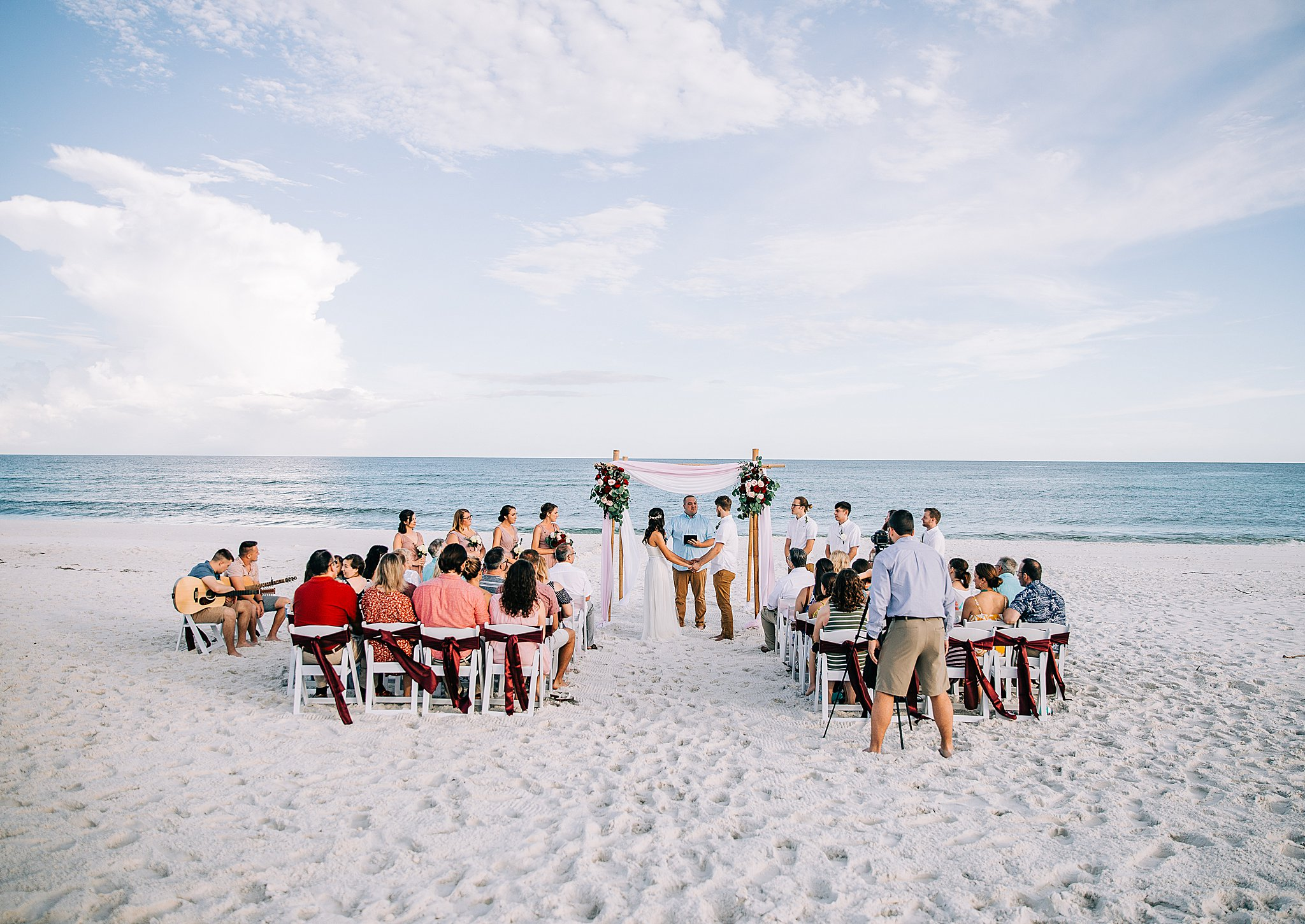Perfect weather for a beach wedding