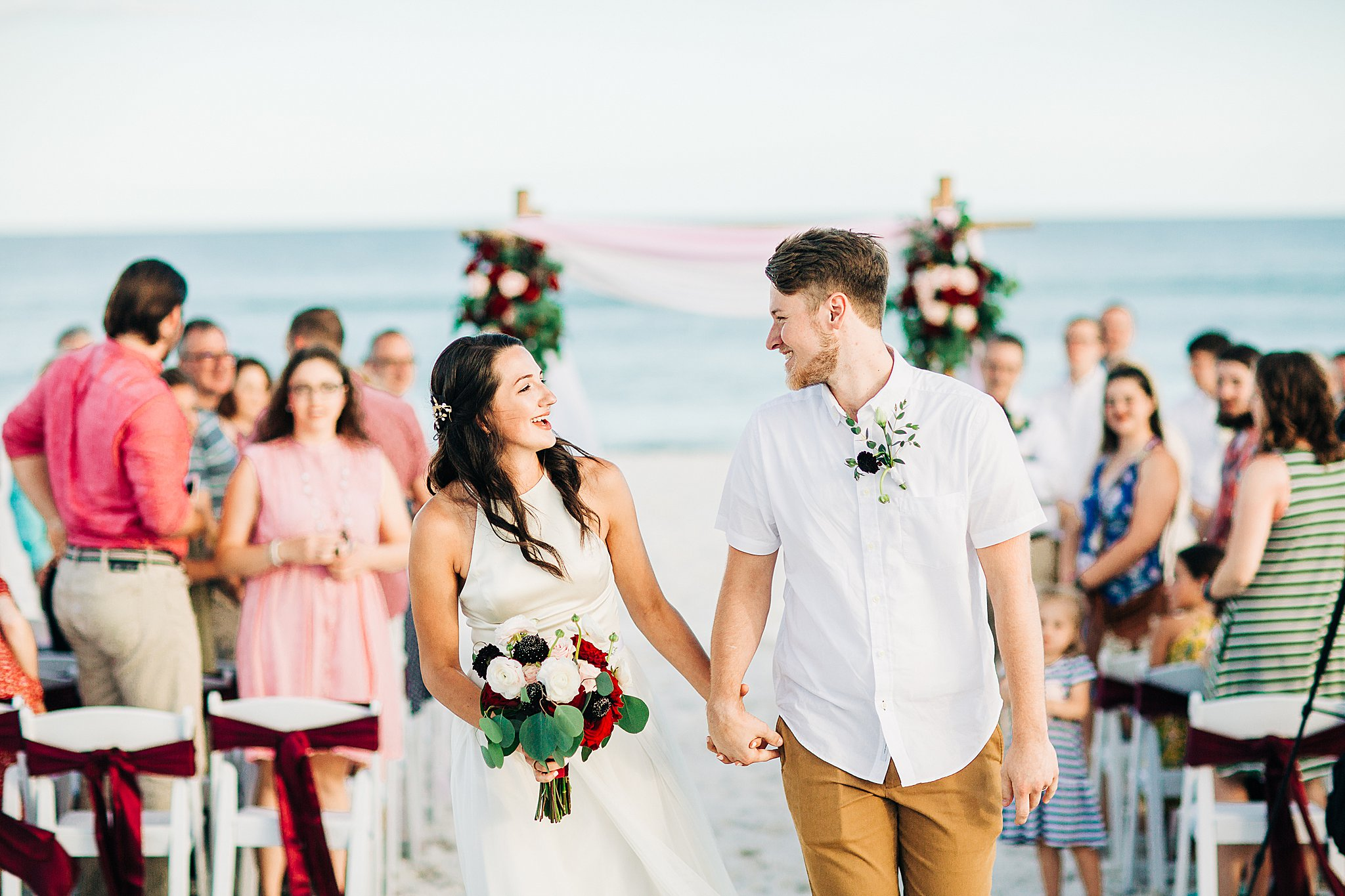 Happily married in Pensacola Beach