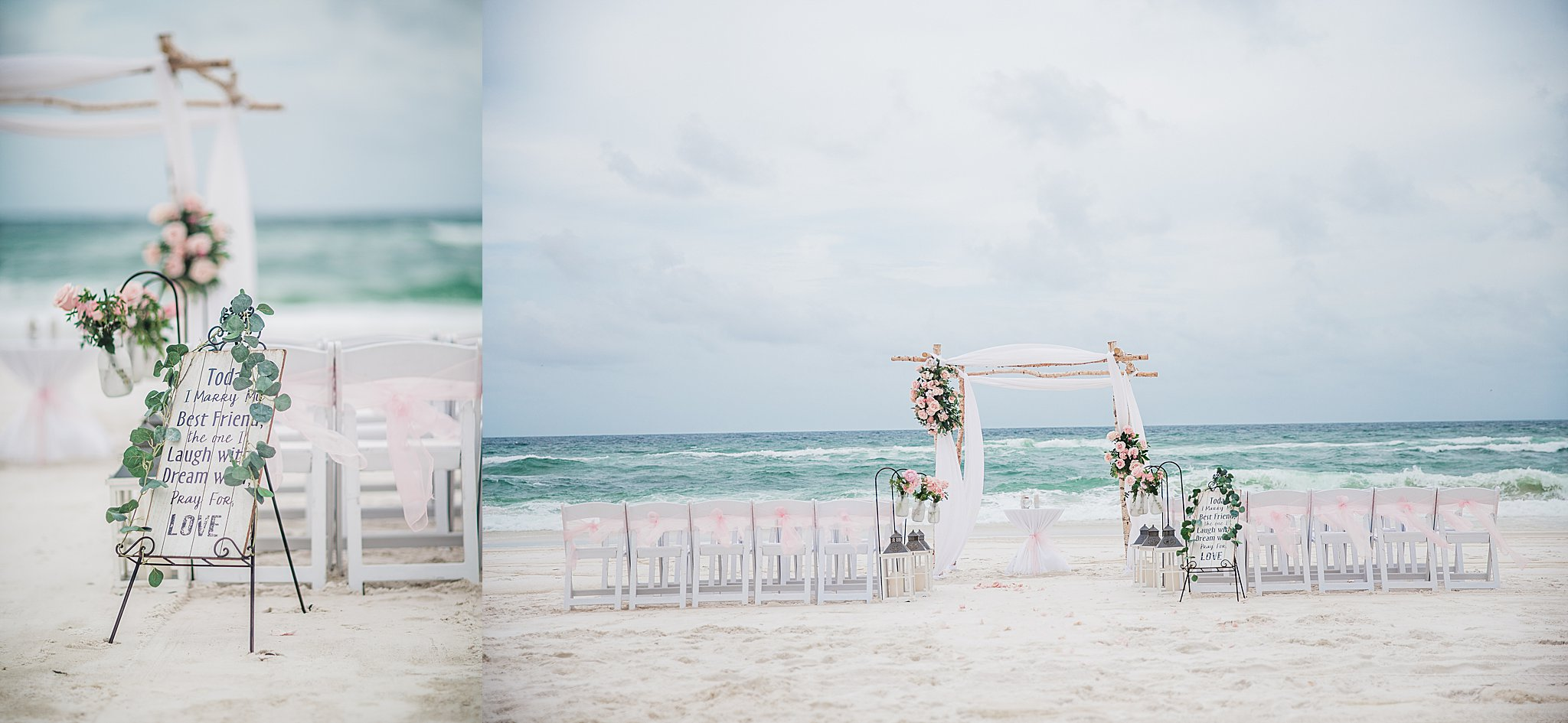 Wedding Arch Setting Up in Pensacola Beach