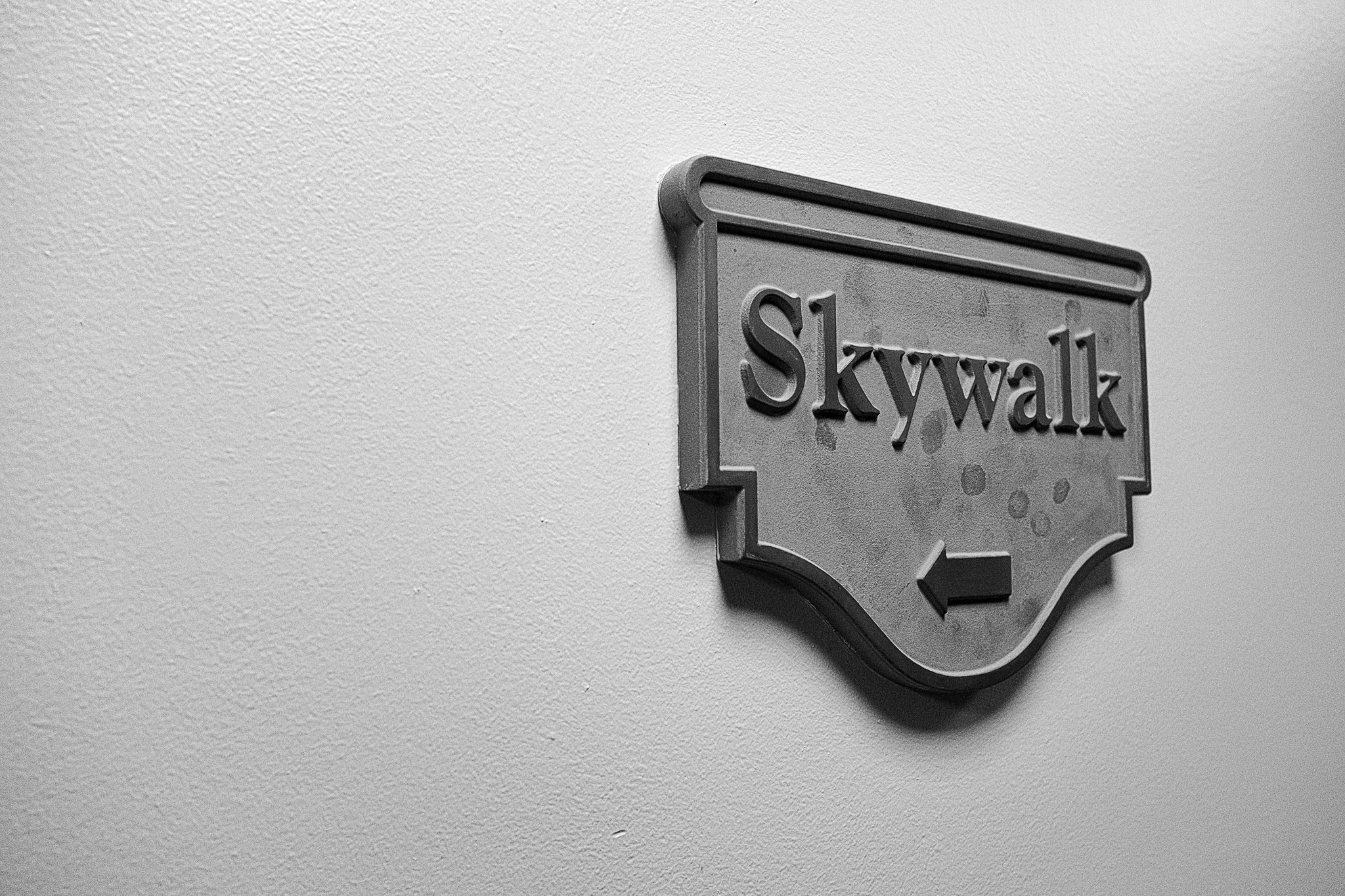 Skywalk 1/10 - Signage- © 2016 Michael F. Hiatt
