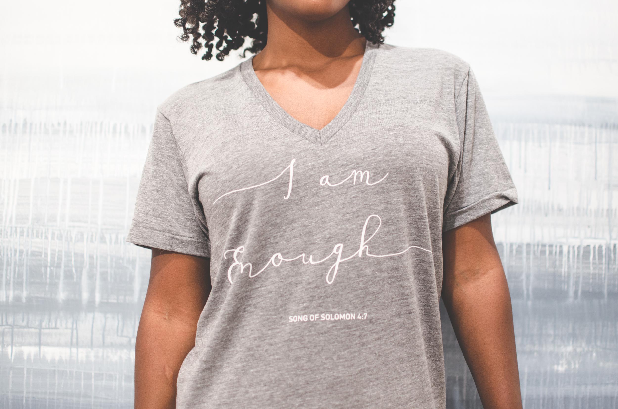 I AM Enough Tee from HazlenutBlue Clothing  Photographer Oscar Lozada of Dallas, Texas