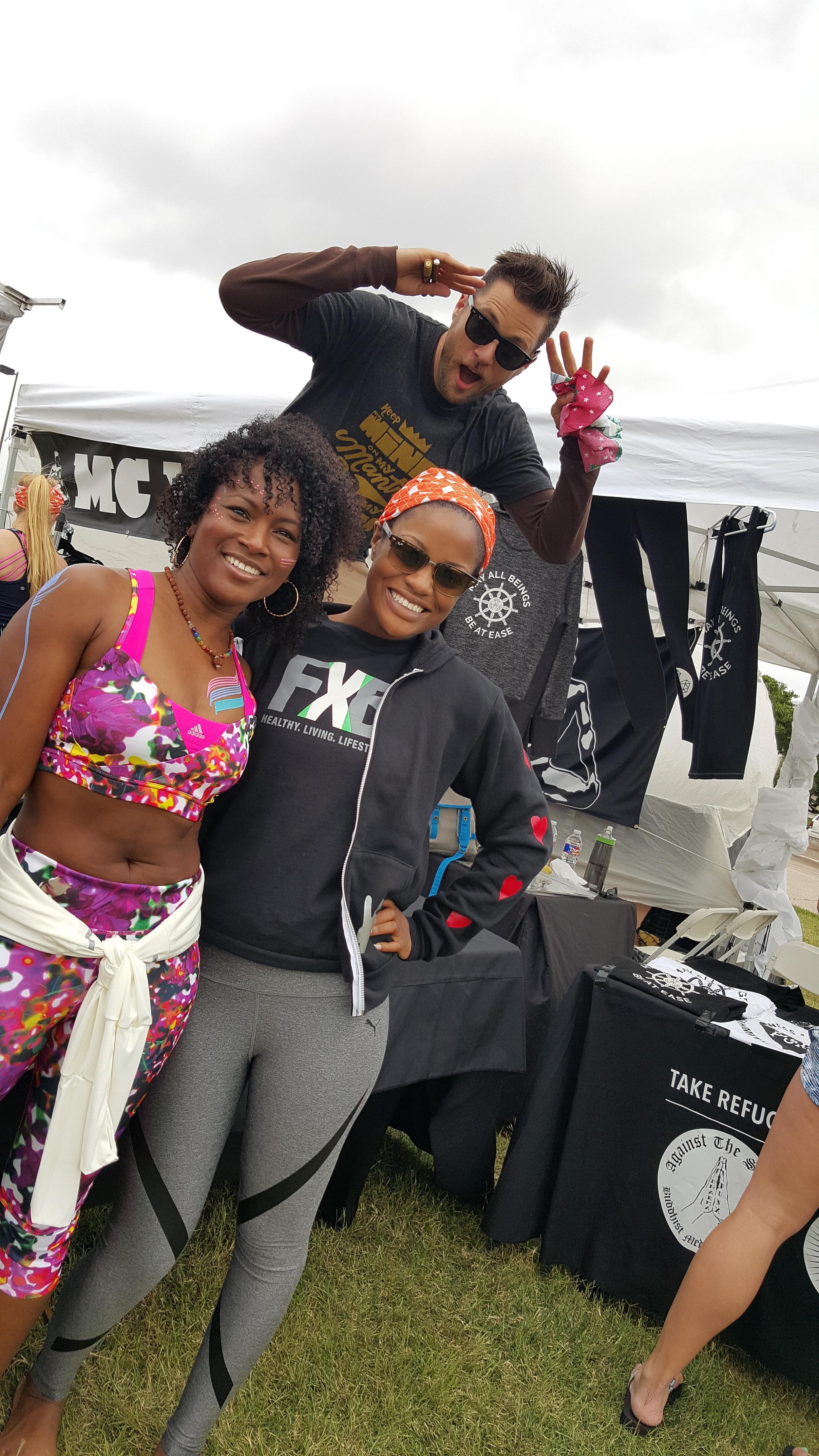 Faith Hunter, MC Yogi, and Fit X Brit. Image FitXBrit