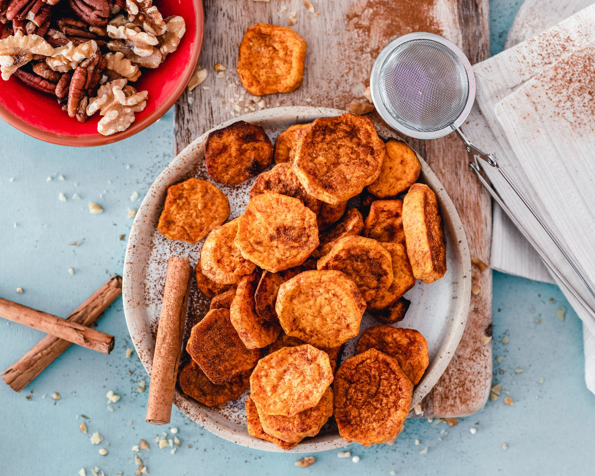 Sweet Potato - I love sweet potatoes and could eat them daily- but I am aware that most people crave this root vegetable in the fall and winter as temperatures decrease. They are super packed with nutrients and are a lovely addition to any diet, and yes they go great in smoothies you just have to be privy to a winning combination.