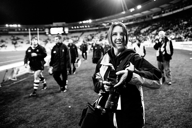 (Freelancing in New Zealand photographing the All Blacks aged 20!)