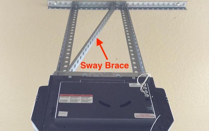 Heavy Duty Garage Door Opener Slotted Angle with Sway Brace