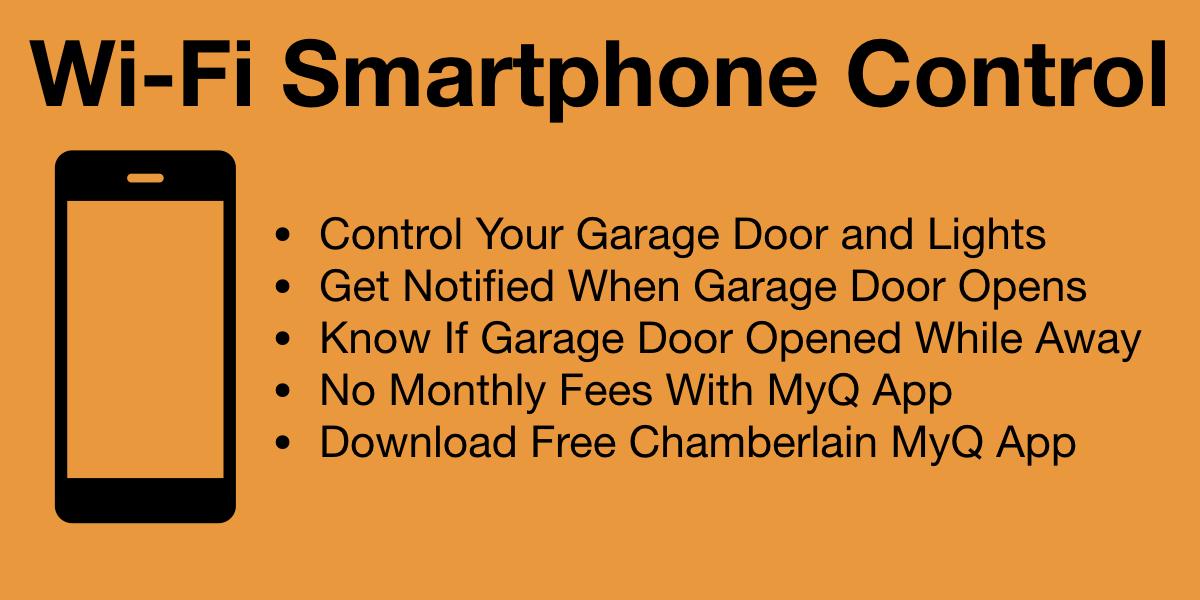 Chamberlain Wi-Fi Garage Door Opener with Smartphone Control