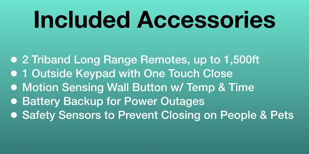 Chamberlain B970 Garage Door Opener Included Accessories