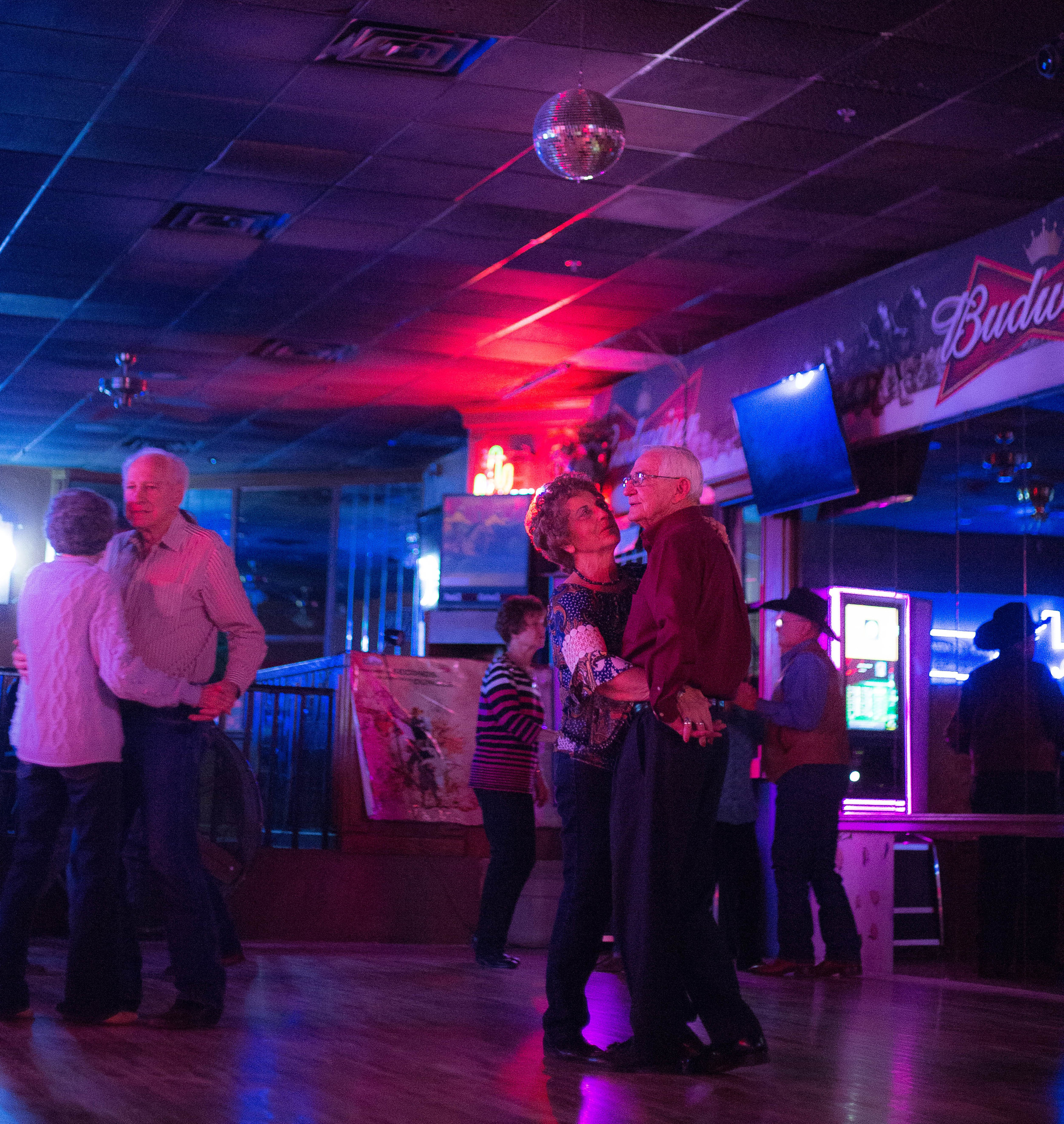 Texas two-steppers meet up every Tuesday at a local motel, a fifty year old tradition in Amarillo, Texas.