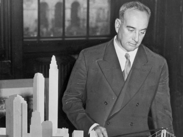 Robert Moses, who escaped blame when the Dodgers left town. (C.M. Stieglitz, World Telegram staff photographer - Library of Congress . New York World-Telegram & Sun Collection)