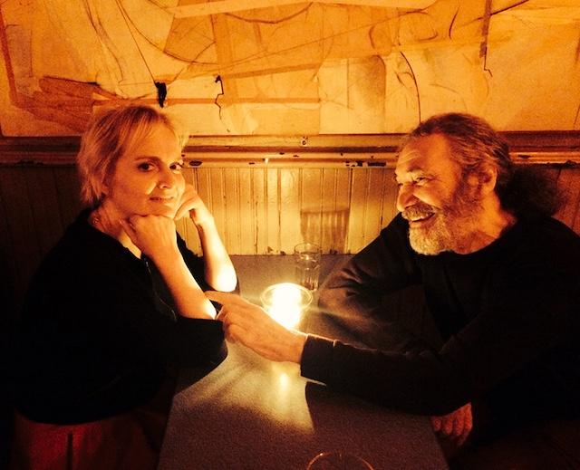 Tone, left, and Sunny, right, share a moment at the bar. (Picture courtesy of Tone Balzano Johansen)