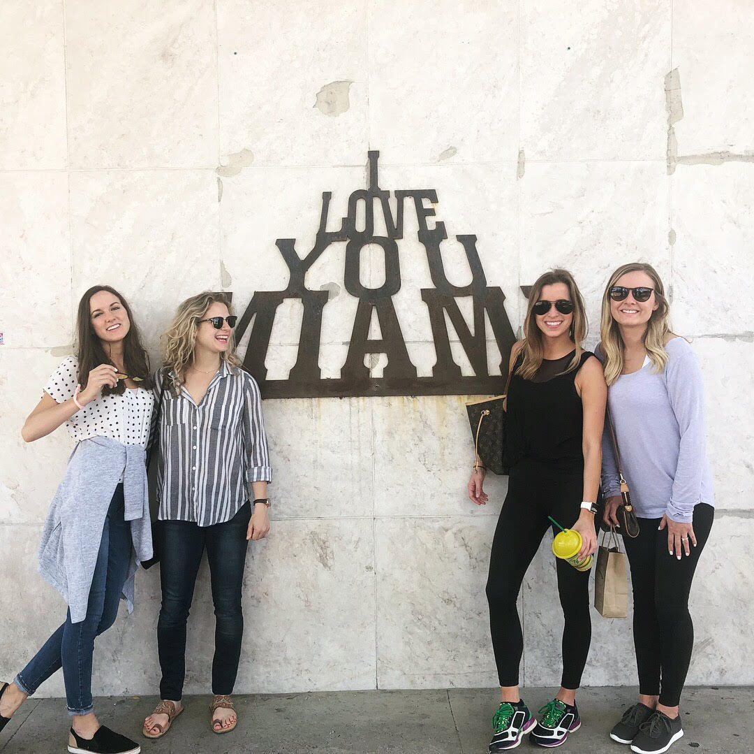 Travel Tuesday with the girls!   We love the beach, exploring + Miami!