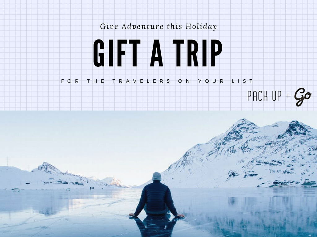Time is winding down to buy presents for the travelers on your list this year!   A  Pack Up + Go Gift Card  is sure to offer a jolly good time!  Our Give a Trip option is an easy way to help your family + friends enjoy the spontaneity + thrill of Surprise Travel!    More info on our website –>  http://bit.ly/GiftCards17