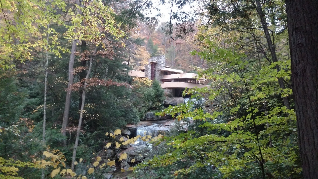 Did You Know: On December 18, 1934, Frank Lloyd Wright visited Bear Run in South Western PA to see the waterfall which would eventually be the site of his famous Falling Water home.  Brendan + Kimberly got a chance to see this architectural classic on their recent trip to Pittsburgh!  Let Pack Up + Go plan a custom vacation based on your interests:  http://bit.ly/2017_FallingWater