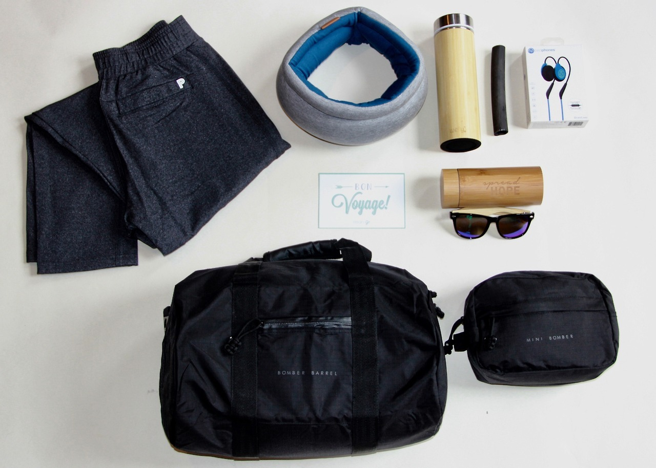 "Want to get away in style? We're teaming up with six other companies to give away an amazing travel package worth $1,500! The winner will receive:  • 50% off your Pack Up + Go surprise vacation • Two duffle bags from  Bomber and Company  • Two  Bedphones by DubsLabs  • Two Wailea Wayfarer sunglasses from  I Thought of You  • Two  Ostrichpillow s • Clothes from  Public Rec  • And two  Welly Bottle s with two Welly filters  Just enter your email on our sweepstakes page and you'll be automatically entered to win. In addition, every ""Like"" of our social media pages gives you another entry!  The sweepstakes will be live until 11:59PM EST on April 28th, so don't delay! Good luck!   http://www.packupgo.com/sweepstakes"