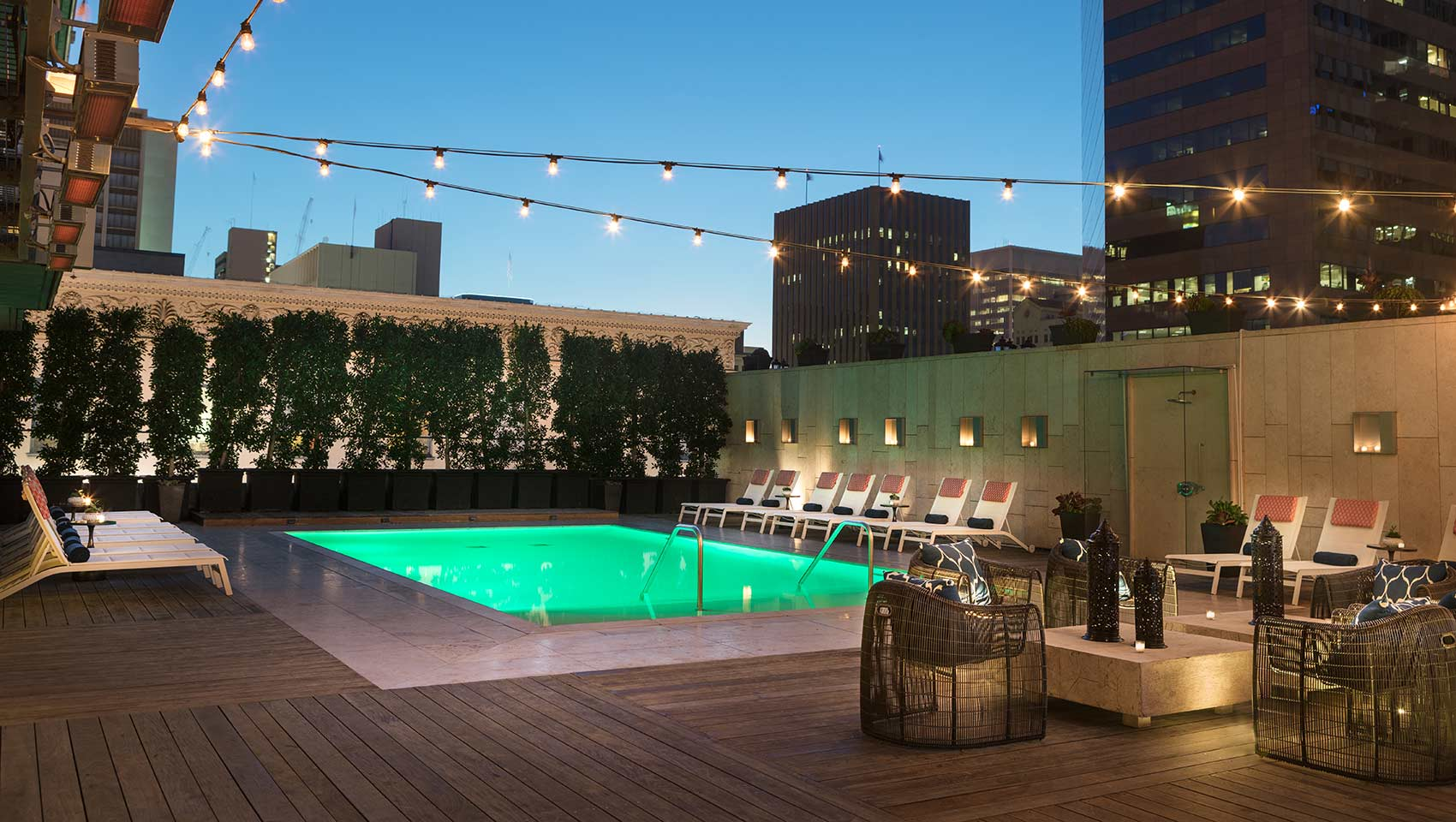 Amenities - The hotel features a pool, Complimentary wifi, Complimentary Wine Hour from 5-6pm +Coffee/Tea in mornings!Located just 3 miles from the San Diego Airport!