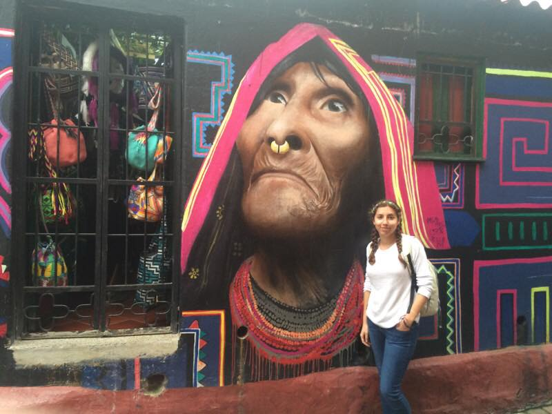 Here I am on a guided Street Art Tour of Bogota, where I met friends I'm still in touch with today!