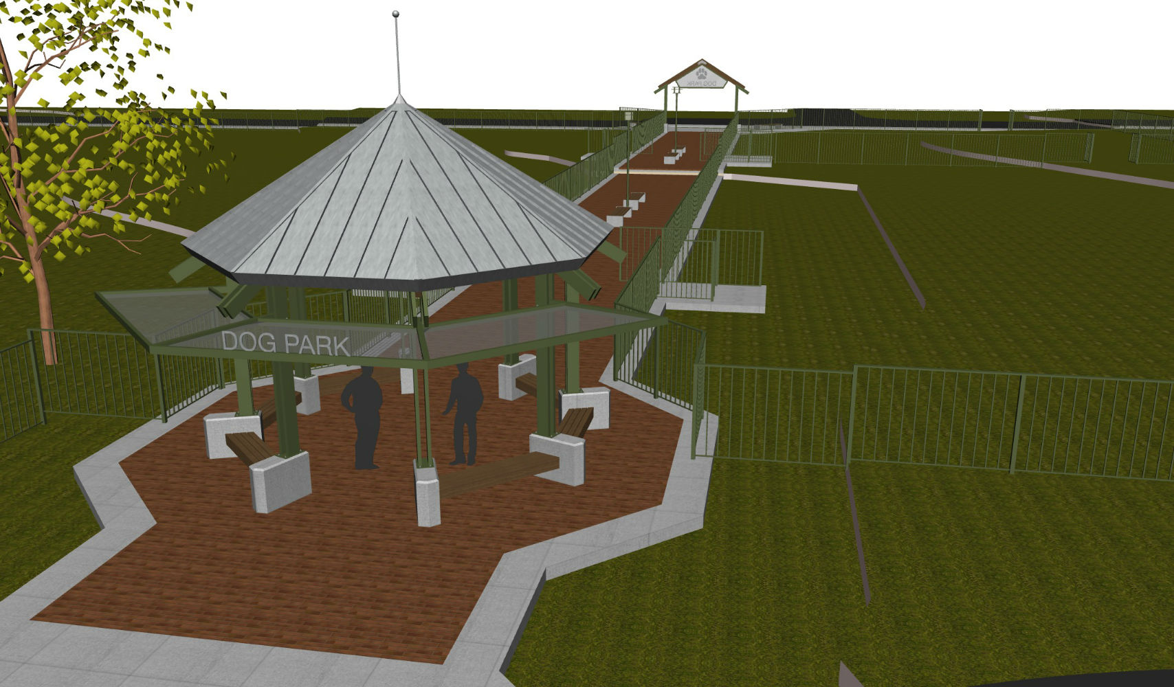 Siloam Springs Dog Park Concept. Image can be downloaded